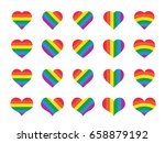 set of rainbow heart | Shutterstock .eps vector #658879192
