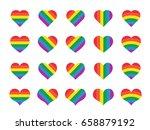 set of rainbow heart | Shutterstock .eps vector #658879192
