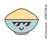 cereal dish kawaii character   Shutterstock .eps vector #658879816