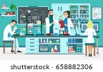 laboratory people assistants... | Shutterstock .eps vector #658882306
