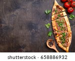 traditional turkish baked dish... | Shutterstock . vector #658886932