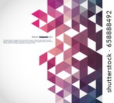 background of geometric shapes. ... | Shutterstock .eps vector #658888492