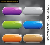capsule buttons colorful vector ... | Shutterstock .eps vector #658890622
