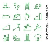 step icons set. set of 16 step... | Shutterstock .eps vector #658895425
