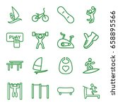 active icons set. set of 16... | Shutterstock .eps vector #658895566