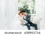wedding couple have a photo... | Shutterstock . vector #658901716