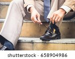 first day to do work... | Shutterstock . vector #658904986