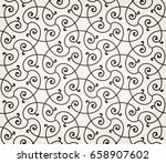 vintage abstract floral... | Shutterstock .eps vector #658907602