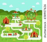 vector map of amusement park...   Shutterstock .eps vector #658907626
