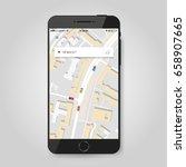 mobile gps navigation concept....   Shutterstock .eps vector #658907665