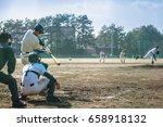 high school baseball player   Shutterstock . vector #658918132