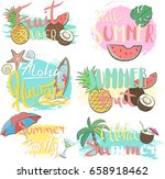 vector hand drawn lettering... | Shutterstock .eps vector #658918462