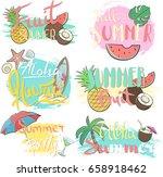 vector hand drawn lettering... | Shutterstock .eps vector #658918462