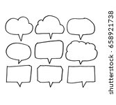 speech bubble hand drawn | Shutterstock .eps vector #658921738