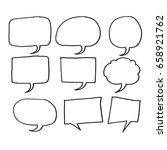 speech bubble hand drawn | Shutterstock .eps vector #658921762