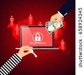 hacking email adresses programs ...   Shutterstock .eps vector #658924345