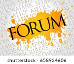 forum word cloud  technology... | Shutterstock . vector #658924606