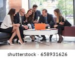 corporate business team and... | Shutterstock . vector #658931626