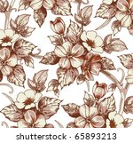 flowers apple. drawing... | Shutterstock .eps vector #65893213
