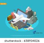 overhead view of traveler's...   Shutterstock .eps vector #658934026