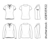 polo shirts with short and long ... | Shutterstock .eps vector #658935922