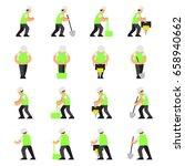 vector set of road work... | Shutterstock .eps vector #658940662