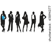 business woman silhouettes... | Shutterstock .eps vector #65894377
