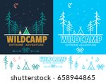 forest camp linear illustration ... | Shutterstock . vector #658944865
