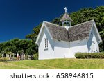 cathedral church and graveyard | Shutterstock . vector #658946815