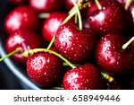 sweet cherry close up macro ... | Shutterstock . vector #658949446