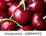 sweet cherry macro photography... | Shutterstock . vector #658949452