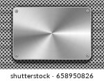 glossy polished metal plate... | Shutterstock .eps vector #658950826