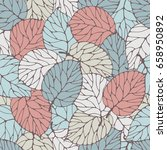 seamless pattern with forest... | Shutterstock .eps vector #658950892