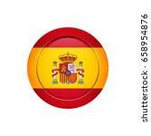 flag design. spanish flag on... | Shutterstock .eps vector #658954876