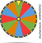 wheel of fortune  vector... | Shutterstock .eps vector #658965052