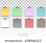 colorfull and white stickers... | Shutterstock .eps vector #658966312