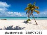 caribbean paradise beach on... | Shutterstock . vector #658976056