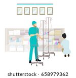 medical office in the hospital. | Shutterstock . vector #658979362