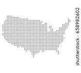 vector dotted map of usa. | Shutterstock .eps vector #658982602