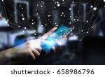 businessman on blurred... | Shutterstock . vector #658986796