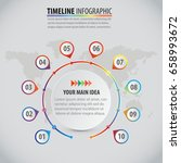 vector circle infographic... | Shutterstock .eps vector #658993672