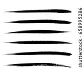 vector set of grunge brush... | Shutterstock .eps vector #658995286