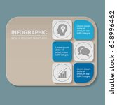 vector infographic template for ... | Shutterstock .eps vector #658996462