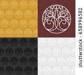 seamless patterns with... | Shutterstock .eps vector #658996582