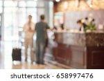 hotel reception | Shutterstock . vector #658997476