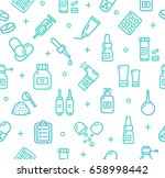 pills related medical pattern... | Shutterstock .eps vector #658998442