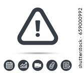 warning icon. attention... | Shutterstock .eps vector #659000992