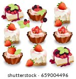set of delicious sweets and...   Shutterstock .eps vector #659004496