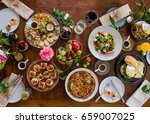 todays menu special dish  from... | Shutterstock . vector #659007025