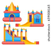 bouncy castles for kids... | Shutterstock .eps vector #659008165